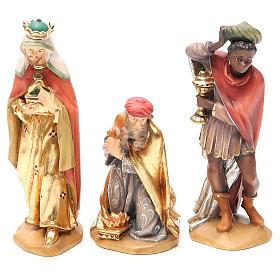 Belén Val Gardena: Reyes Magos, mod. Orient, Madera de la Valgardena pintada