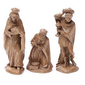 Belén Val Gardena: Reyes Magos, mod. Orient, madera Valgardena patinada