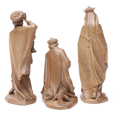 Reyes Magos, mod. Orient, madera Valgardena patinada 2
