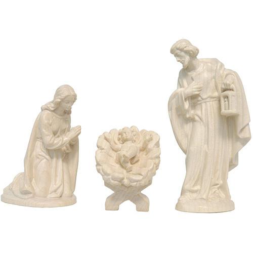 Sacra Famiglia presepe Valgardena naturale cerato 1