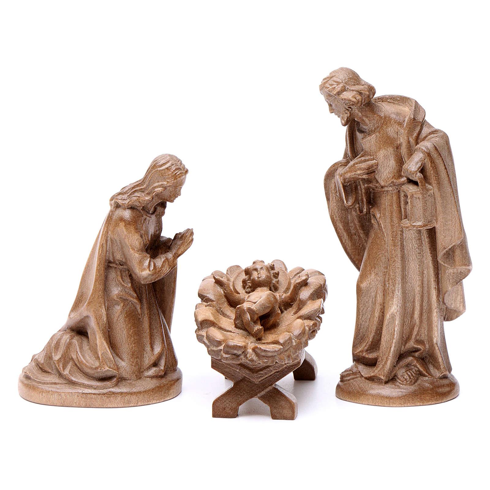 Sagrada Familia de madera Valgardena patinada 4