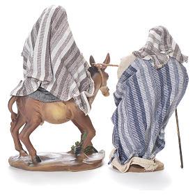 Fuga dall'Egitto 24 cm resina stoffa grigio beige s3