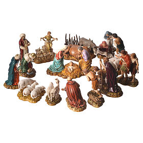 Complete nativity, 9cm Moranduzzo, 14 pieces s1