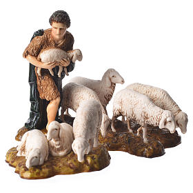 Complete nativity, 9cm Moranduzzo, 14 pieces s7