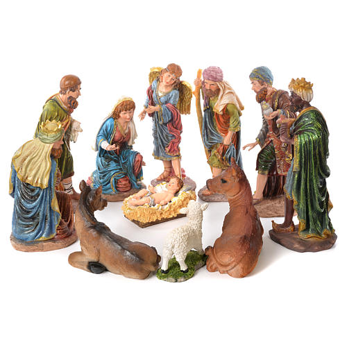 Complete nativity set in resin, 11 figurines 53cm 1