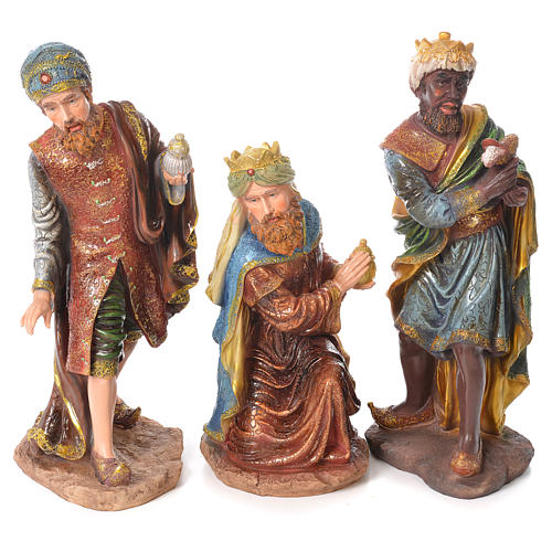 Complete nativity set in resin, 11 figurines 53cm 3