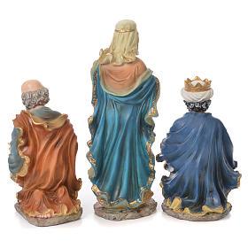 Nativity set in resin, 10 figurines measuring 44cm s4