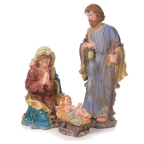 Nativity set in resin, 10 figurines measuring 44cm 2