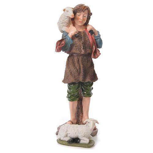 Nativity set in resin, 10 figurines measuring 44cm 5