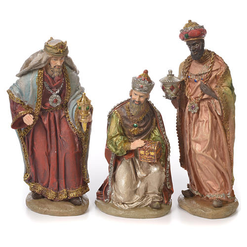 Complete nativity set in resin, 8 figurines 30cm 3