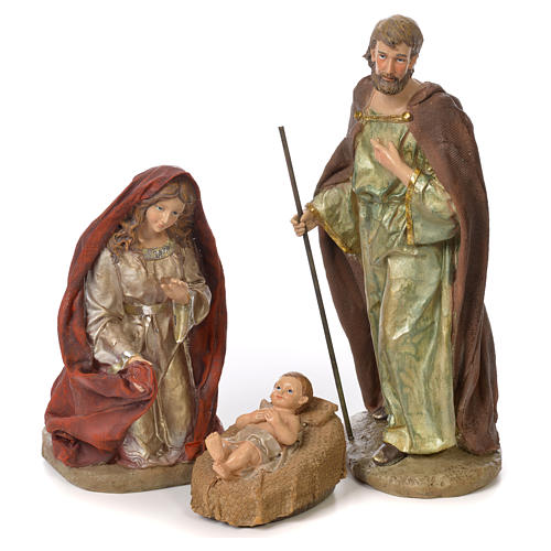 Complete nativity set in resin, 8 figurines 30cm 2