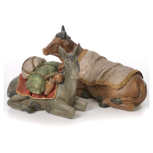 Complete nativity set in resin, 8 figurines 30cm 5