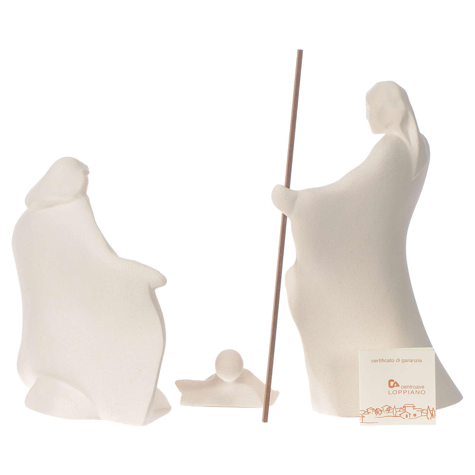 Presepe Giubileo argilla Centro Ave 22 cm 4