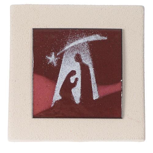 Rote Weihnachtsbild 10cm Feuerton 1