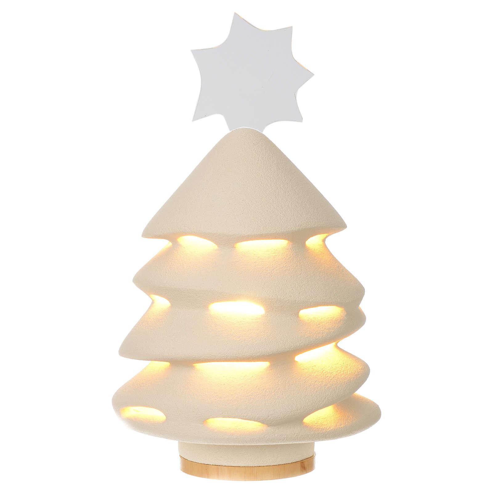 Albero di Natale Ceramica Centro Ave 31 cm illuminato 3