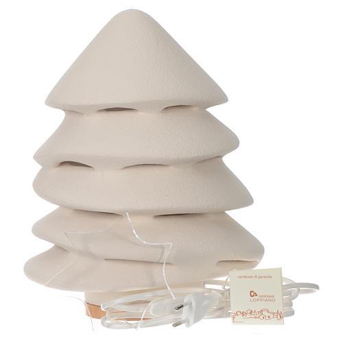 Albero di Natale Ceramica Centro Ave 31 cm illuminato 2