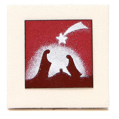 Triptyque cadres rouges argile Centre Ave 9,8 cm 2
