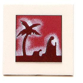 Tríptico quadros vermelhos argila Centro Ave 9,8 cm s3