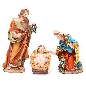 Complete nativity set in multicoloured resin, 11 figurines 20cm s2
