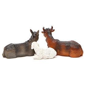 Complete nativity set in multicoloured resin, 11 figurines 20cm s9