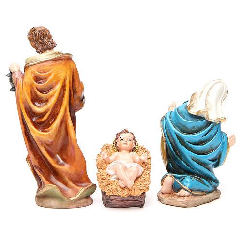 Complete nativity set in multicoloured resin, 11 figurines 20cm 3