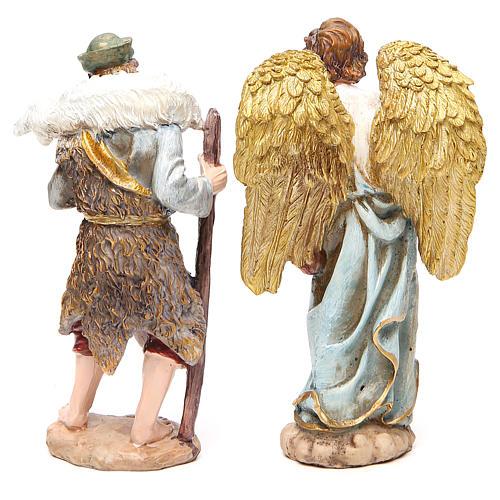 Complete nativity set in multicoloured resin, 11 figurines 20cm 7