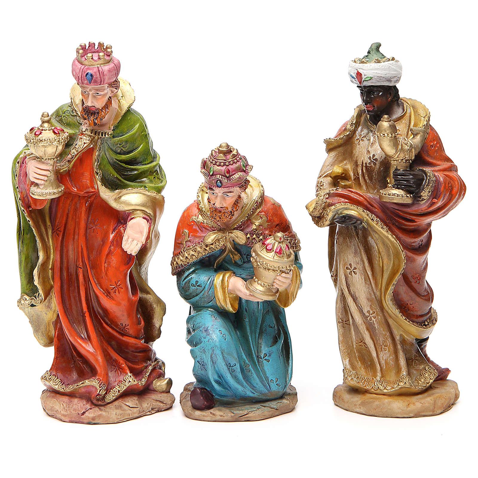 Presepe completo resina cm 20 multicolor 11 statue 4