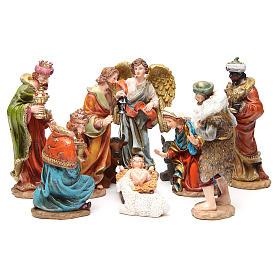 Presepe Resina e Stoffa: Presepe completo resina cm 20 multicolor 11 statue