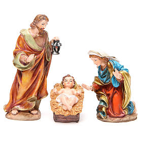 Complete nativity set in multicoloured resin, 11 figurines 20cm s2