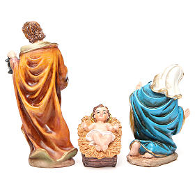 Complete nativity set in multicoloured resin, 11 figurines 20cm s3