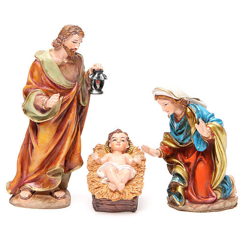 Complete nativity set in multicoloured resin, 11 figurines 20cm 2
