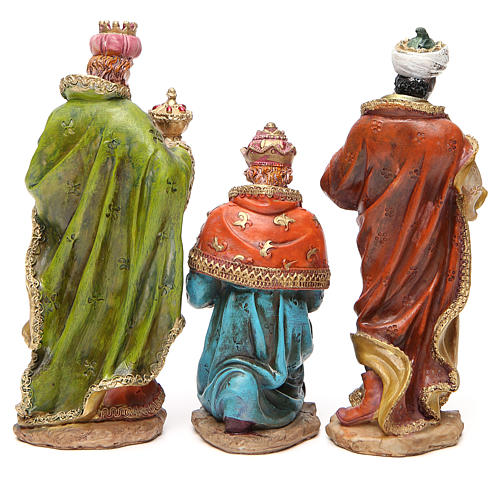 Complete nativity set in multicoloured resin, 11 figurines 20cm 5