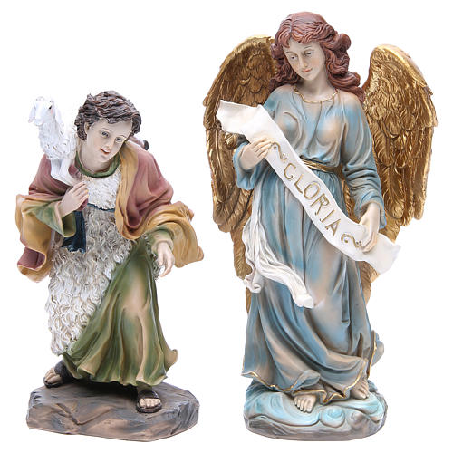 Nativity set in resin measuring 34cm complete with 11 characters 3