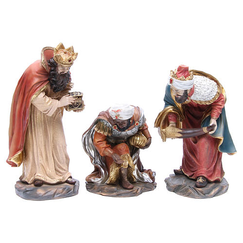 Nativity set in resin measuring 34cm complete with 11 characters 4