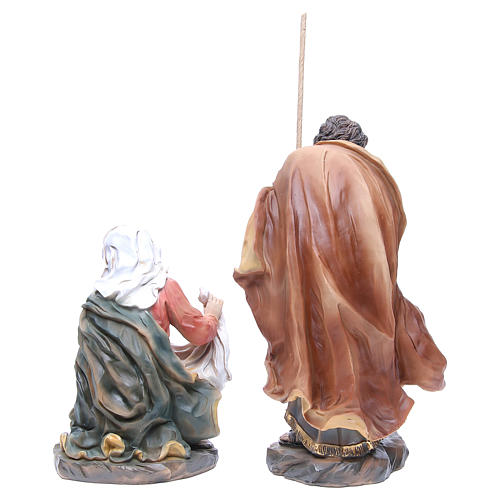 Nativity set in resin measuring 34cm complete with 11 characters 6