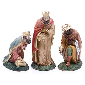 Complete nativity set in resin, 8 figurines 21cm s6
