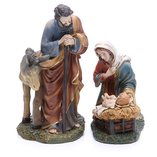 Complete nativity set in resin, 8 figurines 21cm 2