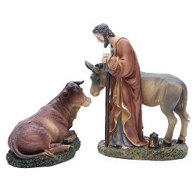 Complete nativity set in resin, 8 figurines 21cm s4
