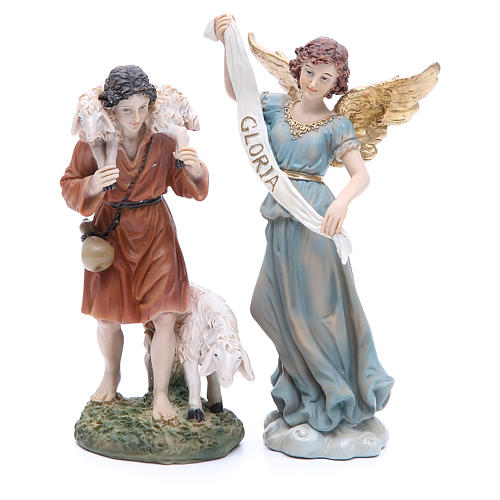 Complete nativity set in resin, 8 figurines 21cm 5