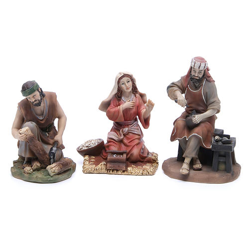 Figuras para el belén resina 22 cm 6 profesiones 2