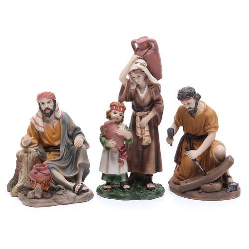 Figuras para el belén resina 22 cm 6 profesiones 3