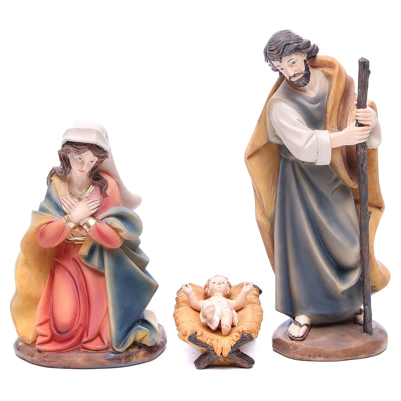 Nativity set in resin measuring 30cm complete with 11 characters 4