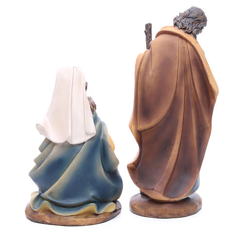 Nativity set in resin measuring 30cm complete with 11 characters 6
