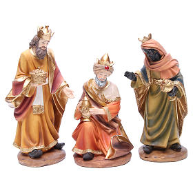 Nativity set in resin measuring 30cm complete with 11 characters s4
