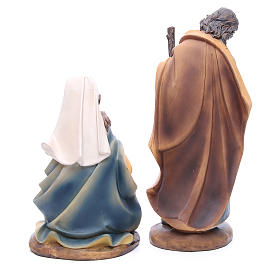 Nativity set in resin measuring 30cm complete with 11 characters s6