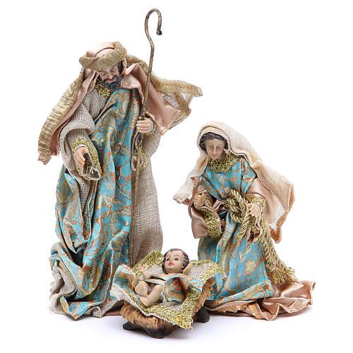 Nativity set in resin, 10 figurines measuring 25cm 2