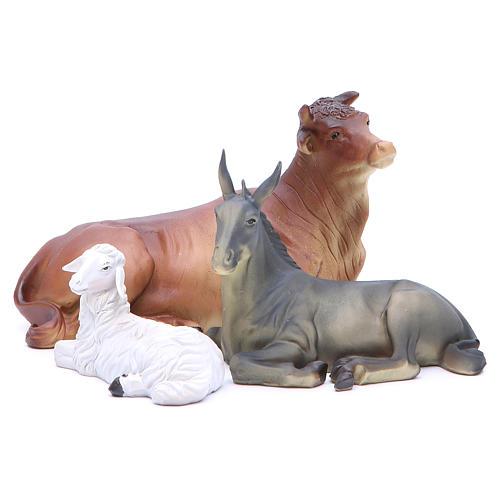 Nativity set in resin, 10 figurines measuring 25cm 6