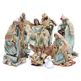 Belén resina y tela: Belén 25 cm resina y tejido 10 figuras