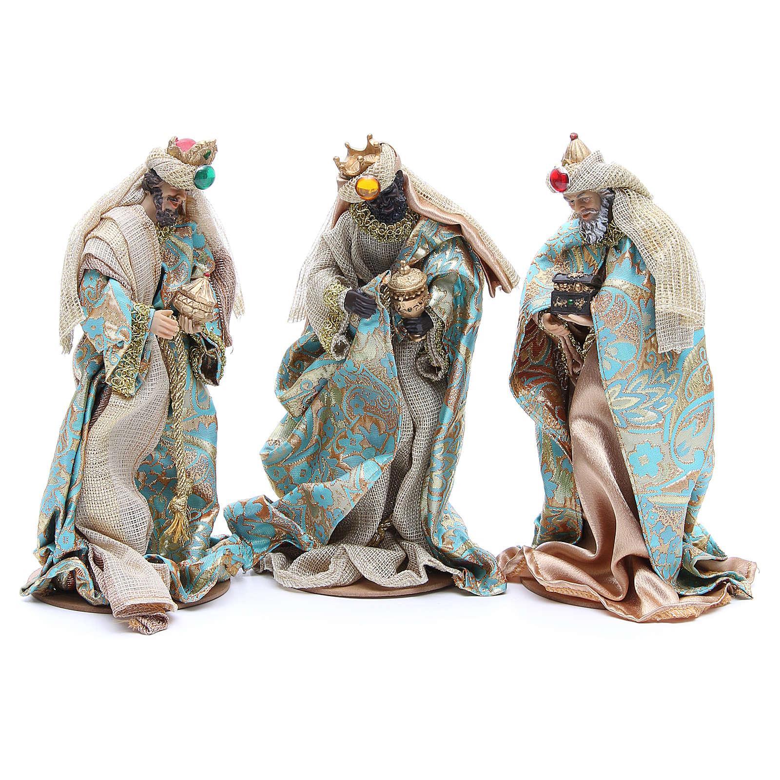 Nativity set in resin, 10 figurines measuring 25cm 4
