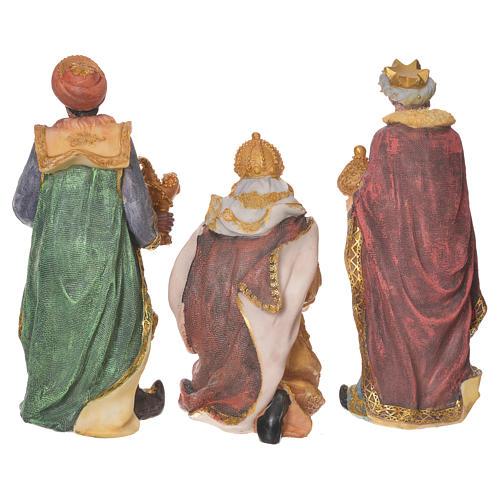 Krippe aus Harz 27cm mit 11 Figuren 7